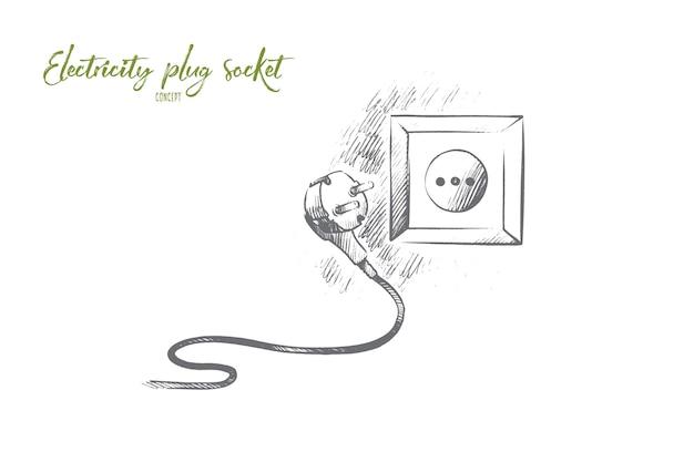 Illustration de concept de prise de courant électrique