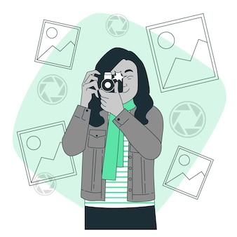 Illustration de concept de prise de vue