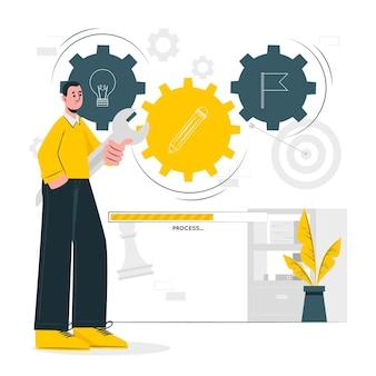 Illustration de concept de processus