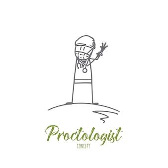 Illustration de concept proctologue
