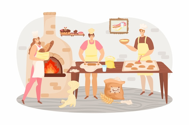 Illustration de concept de produits de boulangerie
