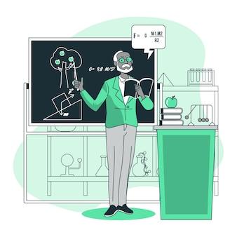 Illustration de concept de professeur