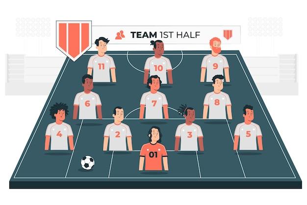 Illustration de concept de programmation d'équipe