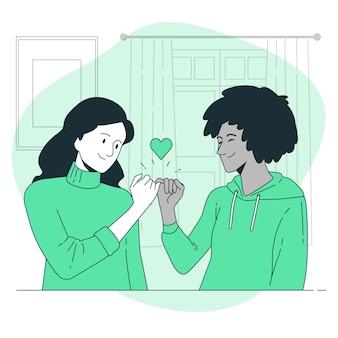 Illustration de concept de promesse pinky