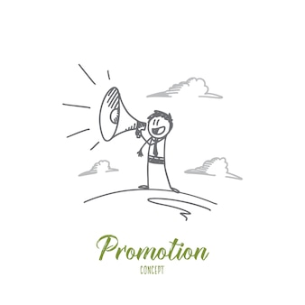 Illustration de concept de promotion