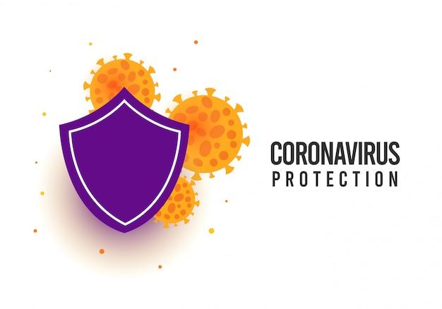 Illustration de concept de protection contre les virus