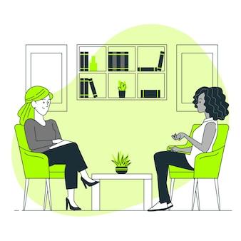 Illustration de concept de psychologue