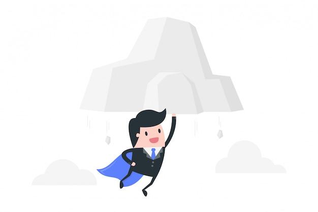 Illustration de concept puissant homme d'affaires.