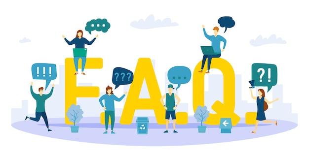 Illustration de concept de questions fréquemment posées