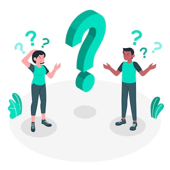 Illustration de concept de questions
