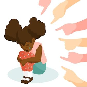 Illustration de concept de racisme