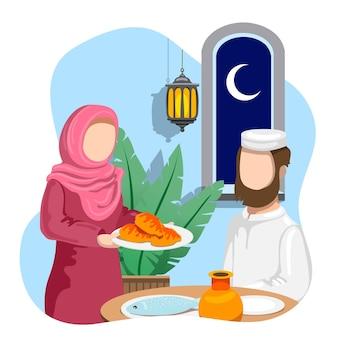 Illustration de concept ramadan dessiné à la main