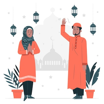 Illustration de concept de ramadan kareem