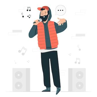 Illustration de concept de rappeur
