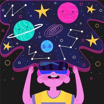 Illustration de concept de réalité virtuelle