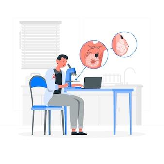 Illustration de concept de recherche sur le cancer du sein