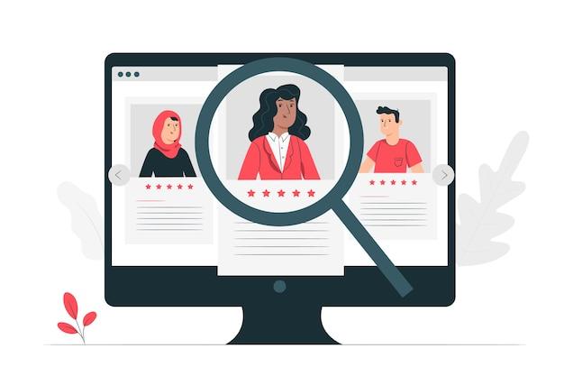 Illustration de concept de recherche d'emploi