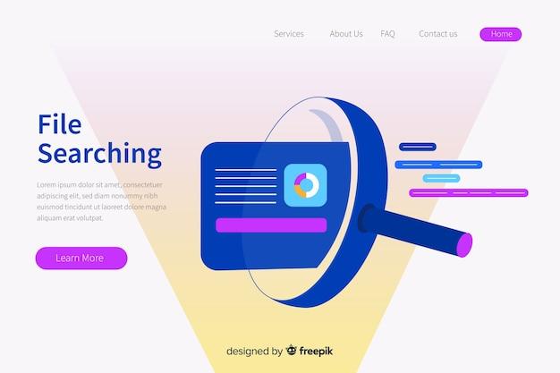 Illustration de concept de recherche de fichier