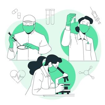 Illustration de concept de recherche médicale