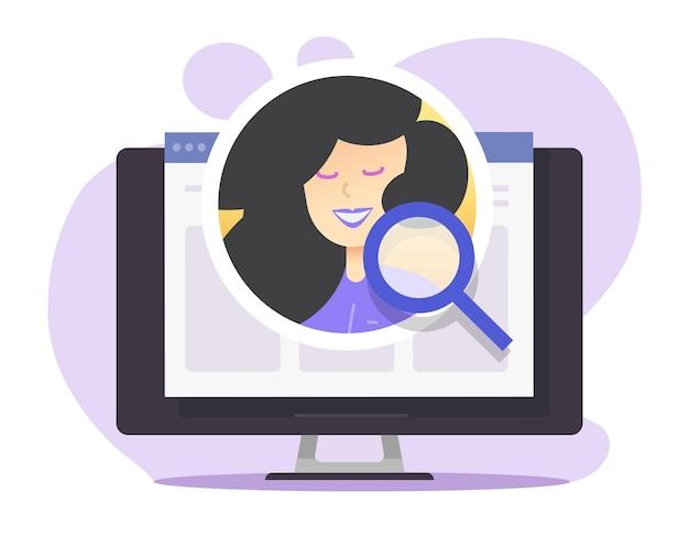 Illustration de concept de recrutement numérique internet