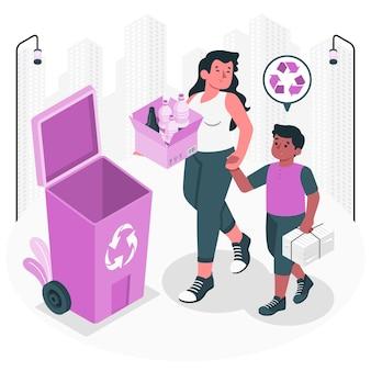 Illustration de concept de recyclage