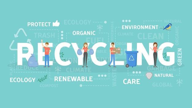 Illustration de concept de recyclage.