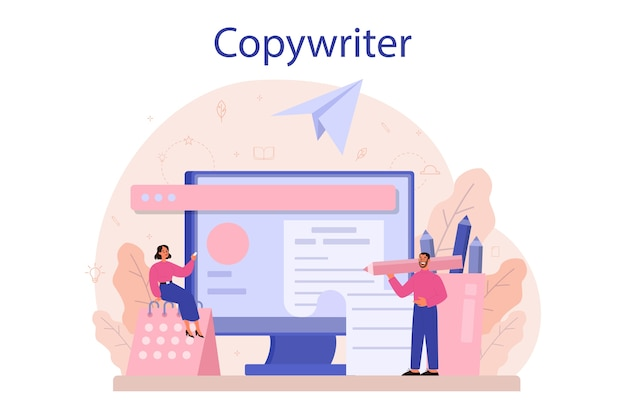 Illustration de concept de rédacteur