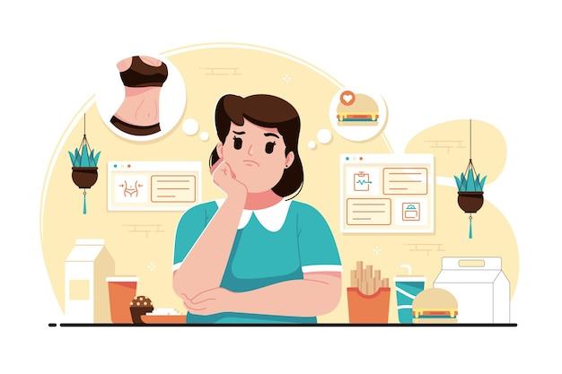 Illustration de concept de régime alimentaire