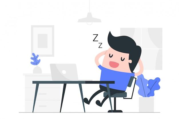 Illustration de concept de repos.