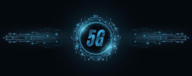 Illustration De Concept De Réseau Mondial 5g Vecteur Premium
