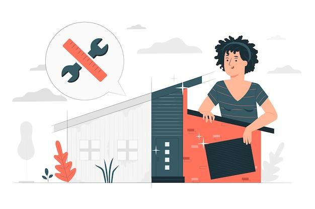 Illustration de concept de restylage de maison