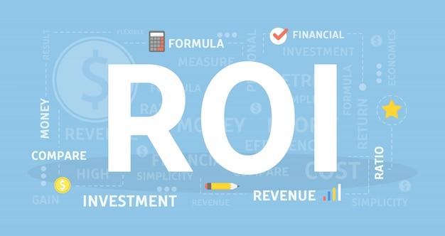 Illustration de concept de retour sur investissement.