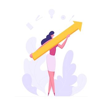 Illustration de concept de réussite de croissance de carrière financière entreprise