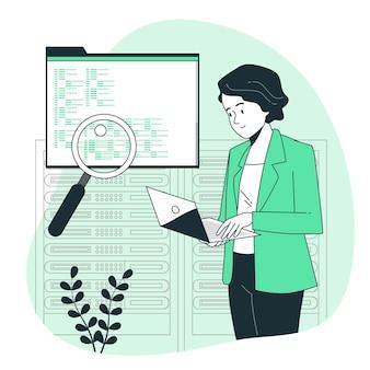Illustration de concept de révision de code