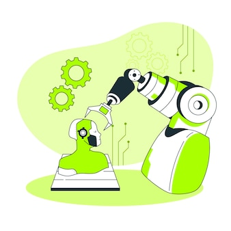 Illustration de concept de robotique