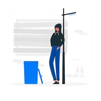 Illustration de concept de ruelle sombre