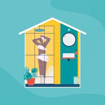 Illustration de concept de salle de bain