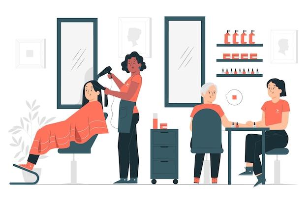 Illustration de concept de salon de beauté