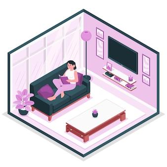 Illustration de concept de salon