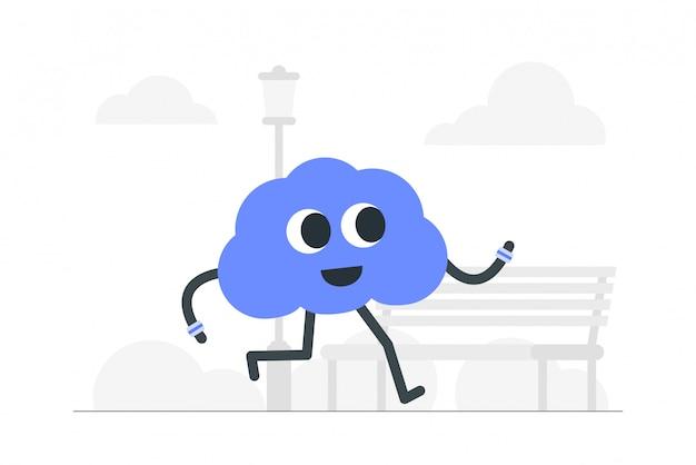Illustration de concept de santé mentale.