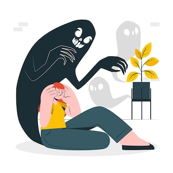 Illustration de concept de schizophrénie