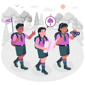 Illustration de concept de scouts