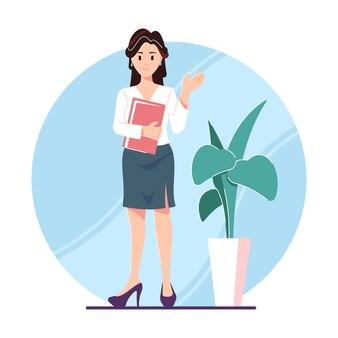 Illustration de concept de secrétaire de bureau