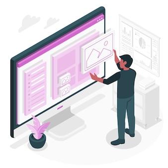Illustration de concept de sélection d'actifs
