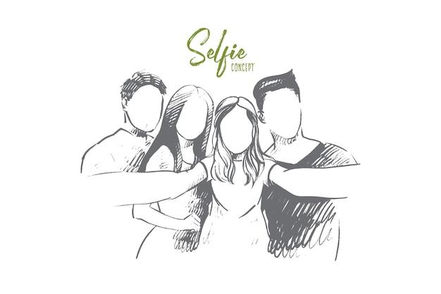Illustration de concept de selfie