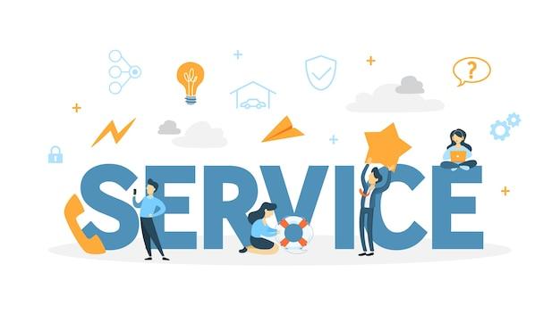 Illustration de concept de service client