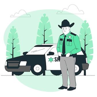 Illustration de concept de shérif