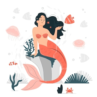 Illustration de concept de sirène