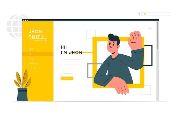 Illustration de concept de site personnel