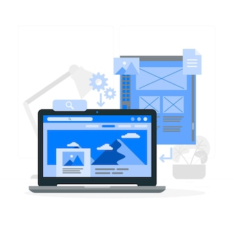 Illustration de concept de site web statique